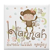 Adorable Hannah Monkey Tile Coaster