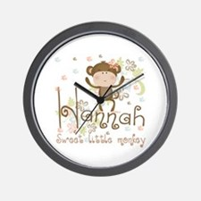 Adorable Hannah Monkey Wall Clock
