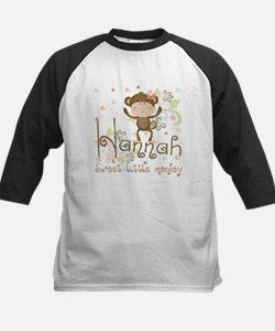 Adorable Hannah Monkey Kids Baseball Jersey
