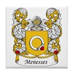 Menesses Family Crest Tile Coaster