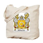 Menesses Family Crest Tote Bag