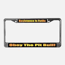Pit Bull License Plate Frame