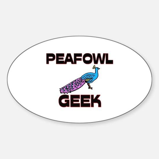 Peafowl Geek Oval Decal