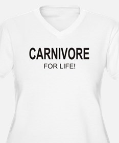 Carnivore For Life Women's Plus Size V-Neck Tee