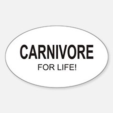 Carnivore For Life Oval Decal