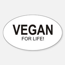 Vegan For Life Oval Decal