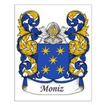 Moniz Family Crest Small Poster