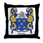 Moniz Family Crest Throw Pillow