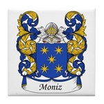 Moniz Family Crest Tile Coaster