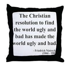 Nietzsche 35 Throw Pillow