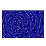 Blue Swirl Postcards (Package of 8)