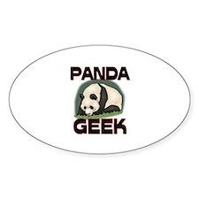 Panda Geek Oval Sticker