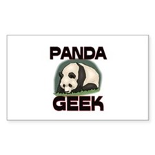 Parakeet Geek Rectangle Sticker