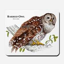 Barred Owl Mousepad