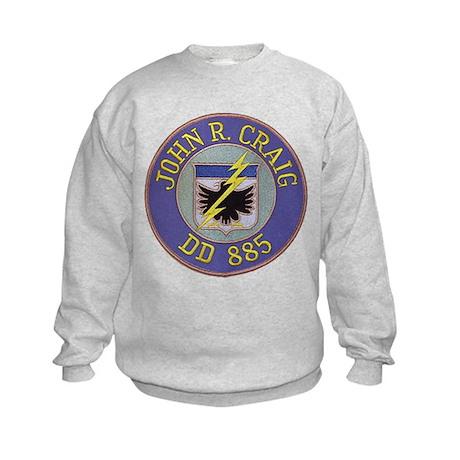 USS JOHN R. CRAIG Kids Sweatshirt
