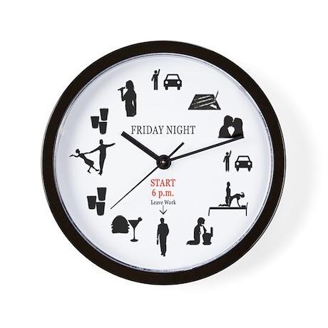 Friday Night Wall Clock