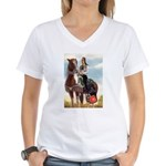 Mounted Shriner Women's V-Neck T-Shirt