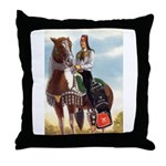 Mounted Shriner Throw Pillow