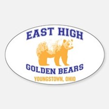 East High Golden Bears Sticker (Oval 10 pk)