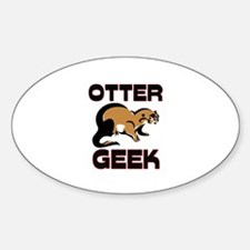 Otter Geek Oval Decal