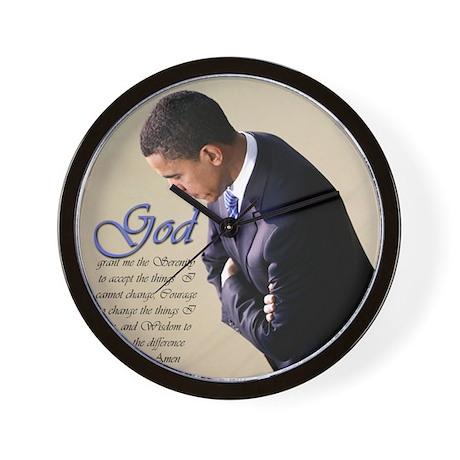 Obama Praying Wall Clock