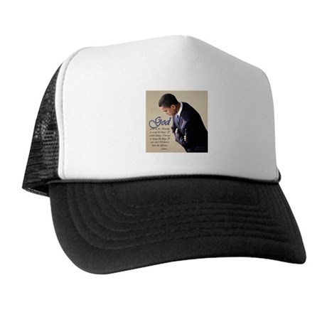 Obama Praying Trucker Hat