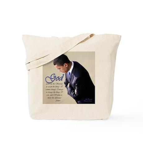 Obama Praying Tote Bag