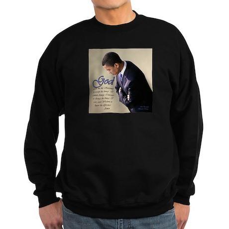 Obama Praying Sweatshirt (dark)