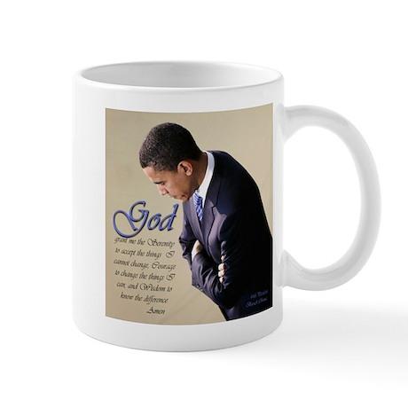 Obama Praying Mug