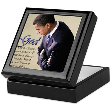 Obama Praying Keepsake Box
