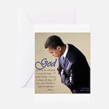 Obama Praying Greeting Card
