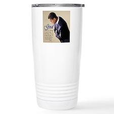 Obama Praying Travel Mug