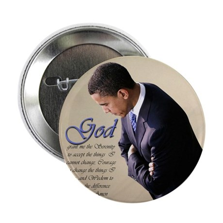 """Obama Praying 2.25"""" Button (10 pack)"""