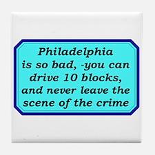 """Gotta Love Philly"" Tile Coaster"