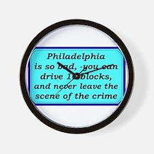 """Gotta Love Philly"" Wall Clock"