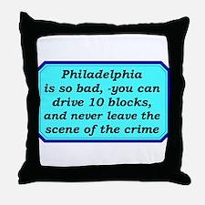 """Gotta Love Philly"" Throw Pillow"