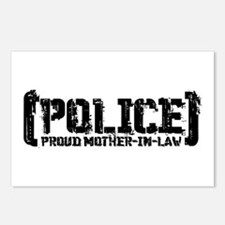 Police Proud Mother-in-law Postcards (Package of 8