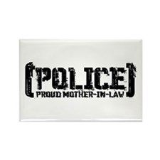 Police Proud Mother-in-law Rectangle Magnet