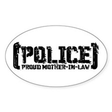 Police Proud Mother-in-law Oval Decal