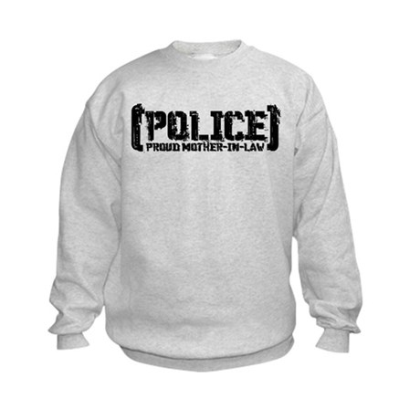Police Proud Mother-in-law Kids Sweatshirt