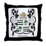 Moralis Family Crest Throw Pillow