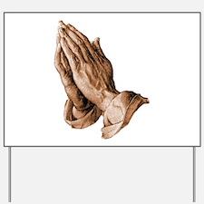 Durer's Praying Hands Yard Sign