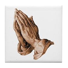 Durer's Praying Hands Tile Coaster