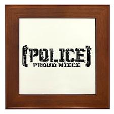 Police Proud Niece Framed Tile