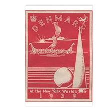 Denmark 1939 World's Fair Postcards (Package of 8)
