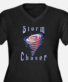 Storm Chaser 3 Women's Plus Size V-Neck Dark T-Shi