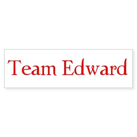 Team Edward Bumper Sticker