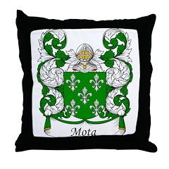 Mota Family Crest Throw Pillow