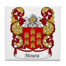 Moura Family Crest Tile Coaster