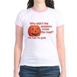 Funny Skeleton Halloween Jr. Ringer T-Shirt
